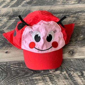 Lady Bug Toddler Sun Cap
